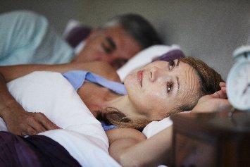 Woman Wide Awake At Night