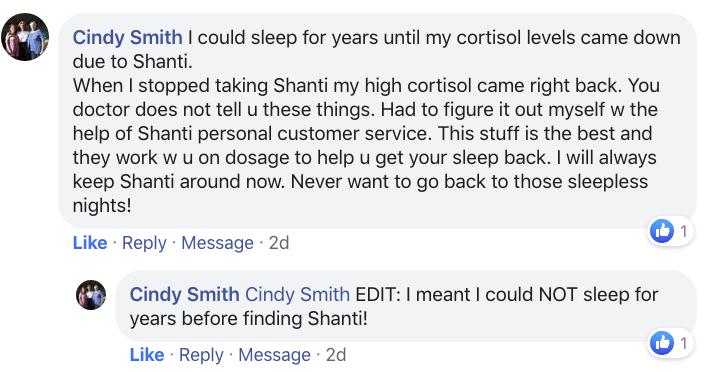 Cindy Smith Shanti Feedback